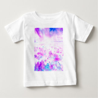 Watercolor Abstract Purple Meadow Baby T-Shirt
