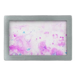 Watercolor Abstract Purple Meadow Rectangular Belt Buckles