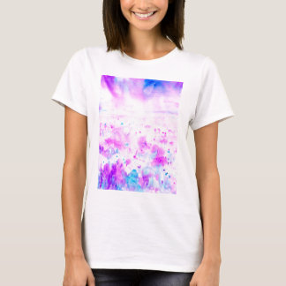 Watercolor Abstract Purple Meadow T-Shirt