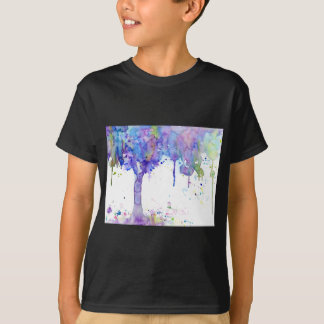 Watercolor Abstract Purple Tree Canopy T-Shirt