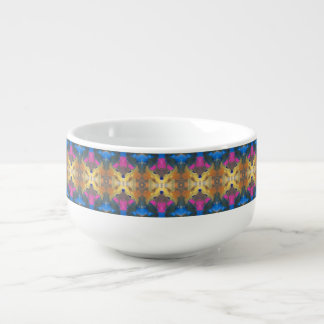 watercolor abstract soup bowl soup bowl with handle