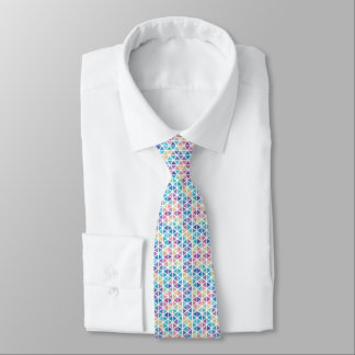 Watercolor Abstract Triangles (Coral Reef Tones) Tie