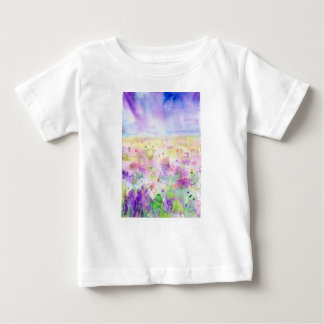 Watercolor abstract wildflower meadow painting baby T-Shirt
