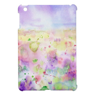 Watercolor abstract wildflower meadow painting iPad mini cover