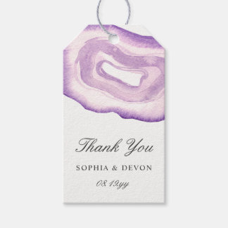 Watercolor Agate Wedding Gift Tags | Lavender Pack Of Gift Tags