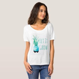 Watercolor Air Plant Succulent Let It Grow T-Shirt