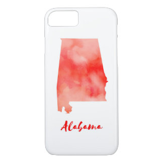 Watercolor Alabama United States iPhone 8/7 Case