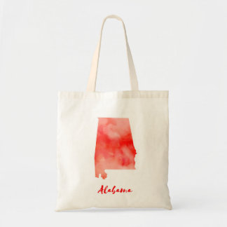 Watercolor Alabama United States Tote Bag