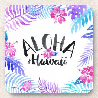 Watercolor Aloha Hawaii Tropical | Coaster