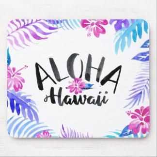 Watercolor Aloha Hawaii Tropical | Mousepad