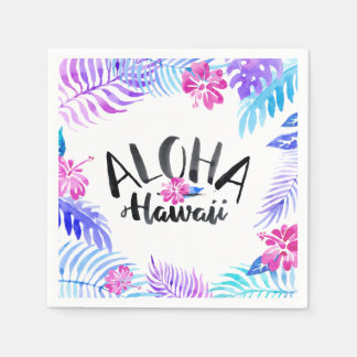 Watercolor Aloha Hawaii Tropical | Napkin