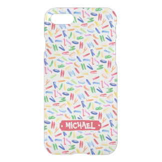 Watercolor alphabet custom kids iPhone 8/7 case