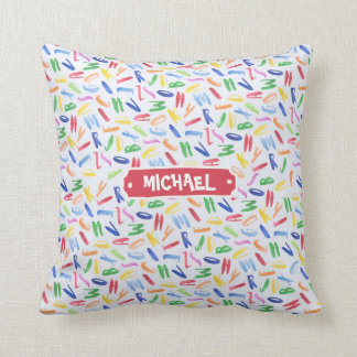 Watercolor alphabet custom kids throw pillow