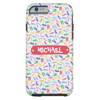 Watercolor alphabet custom kids tough iPhone 6 case