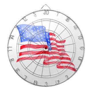 Watercolor American Flag Dartboard