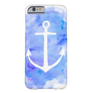 Watercolor Anchor Blue Barely There iPhone 6 Case
