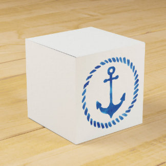 Watercolor Anchor Favor Boxes