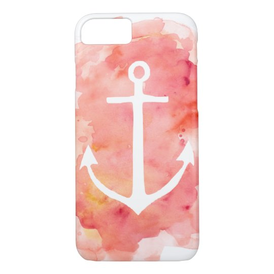 Watercolor Anchor iPhone 7 Case