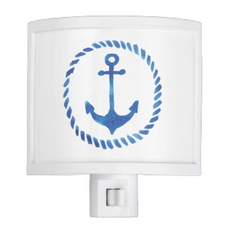 Watercolor Anchor Night Light