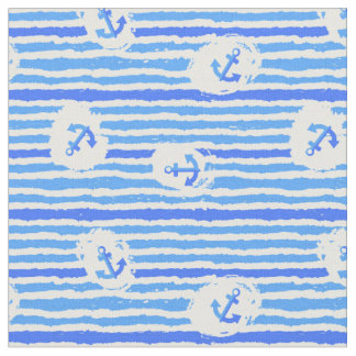 Watercolor Anchor Pattern   Add Your Initial Fabric