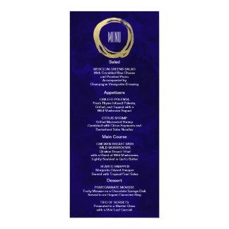 Watercolor and Gold Modern Custom Menu 4x9.25 Paper Invitation Card