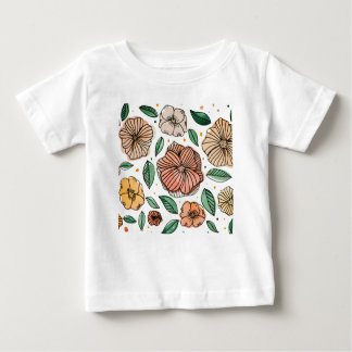 Watercolor and ink flowers - vintage baby T-Shirt