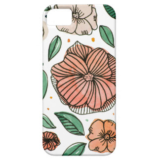 Watercolor and ink flowers - vintage case for the iPhone 5