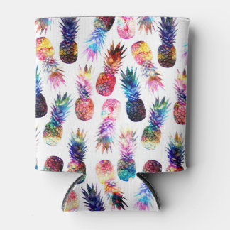 watercolor and nebula pineapples illustration can cooler
