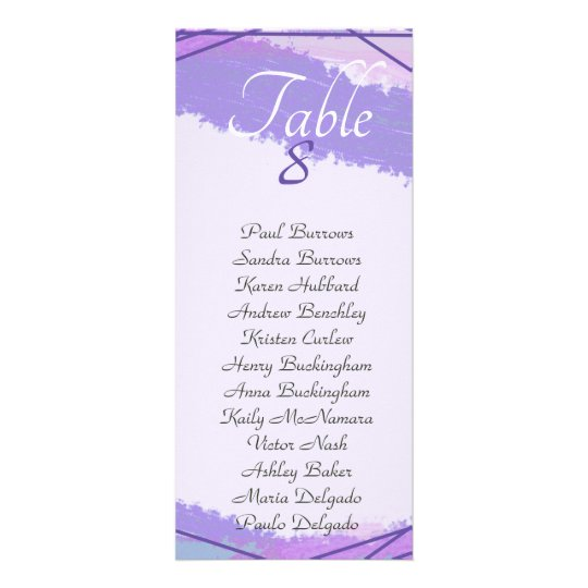 Watercolor and ultraviolet lines, contemporary rack card