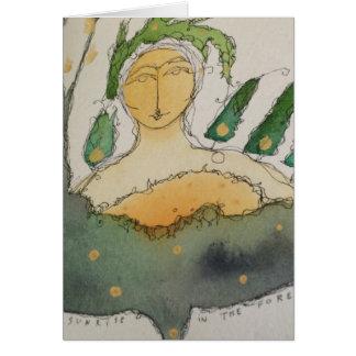 watercolor angel card