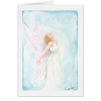 Watercolor Angel or Fairy (Blank Inside) Card