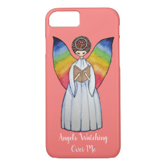 Watercolor Angel With Rainbow Wings Reading A Book Case-Mate iPhone Case
