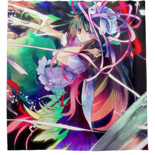 Watercolor Anime Faerie Girl Shower Curtain