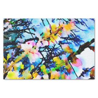 Watercolor Apple Blossom Sky Tissue Paper