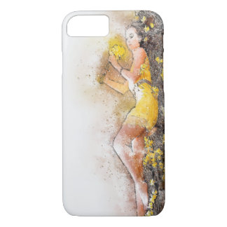 Watercolor Apple iPhone 7, Barely There Phone Case