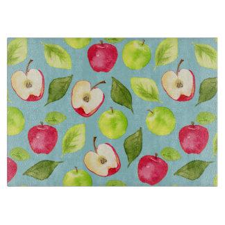 Watercolor Apples Pattern Cutting Board