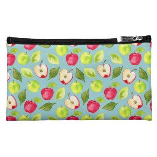 Watercolor Apples Pattern Makeup Bag