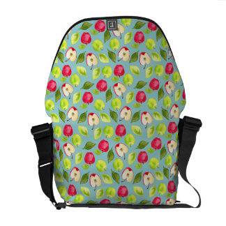 Watercolor Apples Pattern Messenger Bag