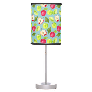 Watercolor Apples Pattern Table Lamp