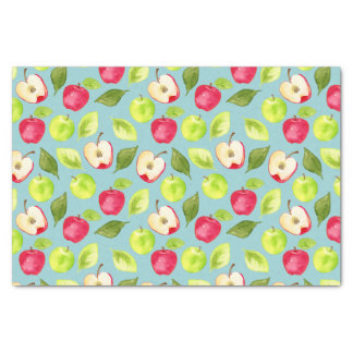 Watercolor Apples Pattern Tissue Paper