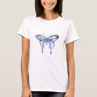 watercolor aqua blue purple butterfly T-Shirt