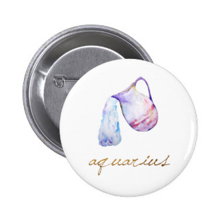 Watercolor Aquarius Water Bearer 2 Inch Round Button