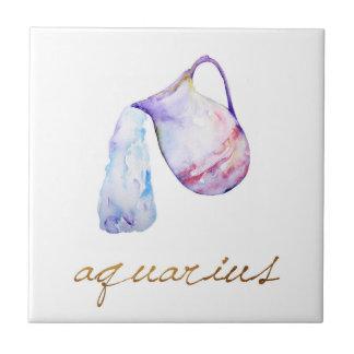 Watercolor Aquarius Water Bearer Ceramic Tiles