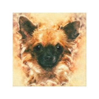 Watercolor art Chihuahua Painting Canvas Print
