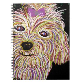 Watercolor Art Maltese Notebook