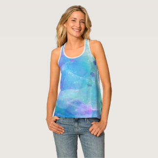 Watercolor Art Mermaid Tail Under the Sea Tank Top