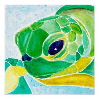 Watercolor Art Print [i like turtles.] Perfect Poster