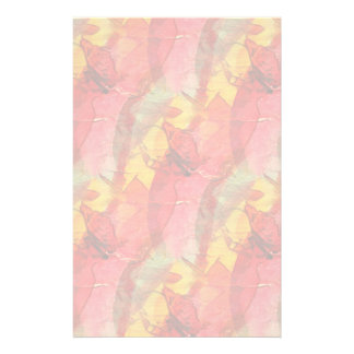 Watercolor art red yellow stationery paper