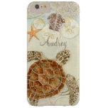 Watercolor Art Sea Turtle Coastal Beach Sea Shells