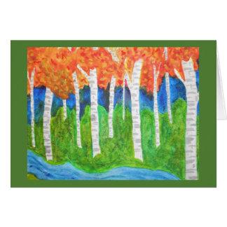 Watercolor Aspen Forest Card